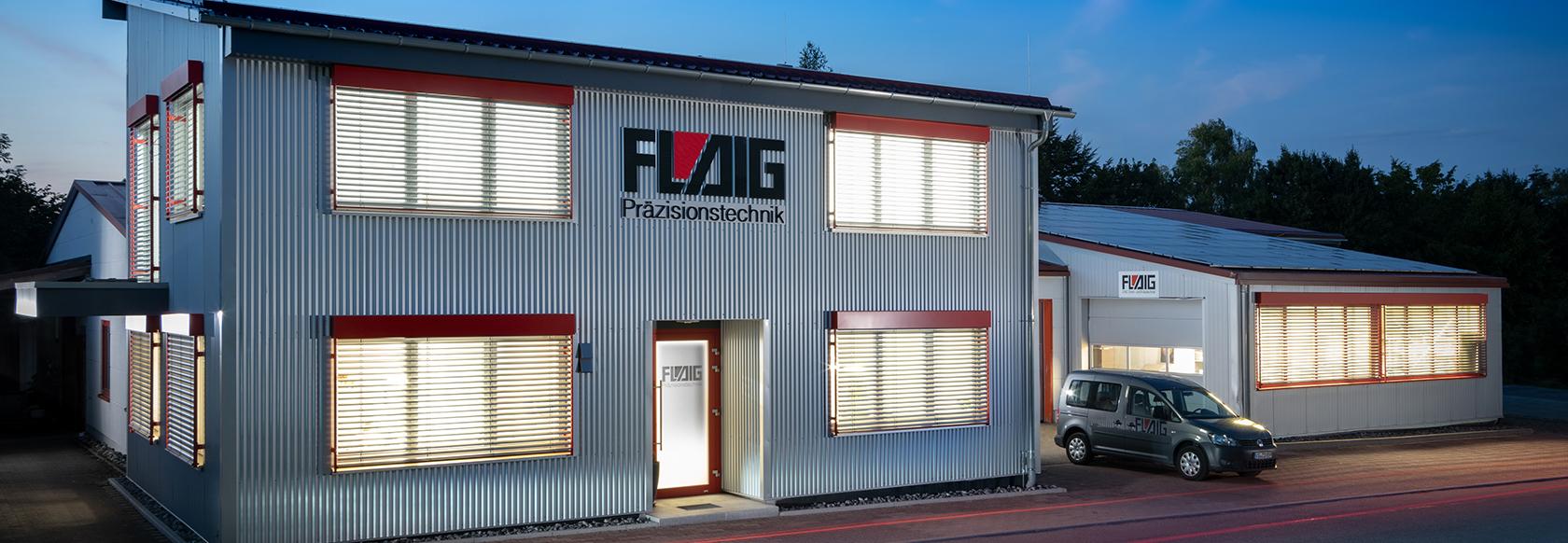 Außenansicht des Firmengebäudes Flaig Präzesionstechnik